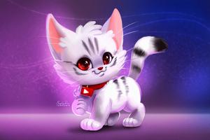 Cute Kitty Digital Art