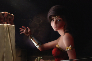 Cute Wonder Woman 4k