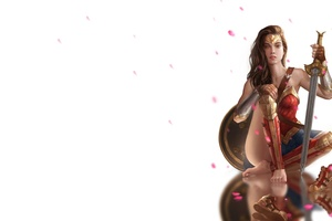 Cute Wonder Woman Bare Foot Artwork
