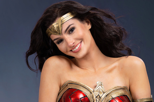 Cute Wonder Woman Smiling Cosplay 4k Wallpaper