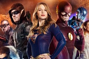 CW DC Superhero Crossover Wallpaper