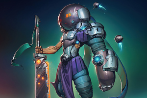 Cyber Anime Warrior 4k