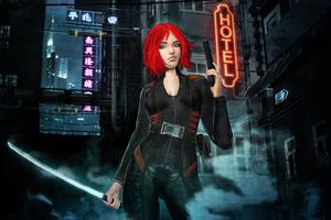 Cyber Assassin Girl 5k Wallpaper