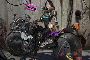 Cyber Bike Girl