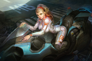 Cyber Biker Girl 4k 2021 Wallpaper