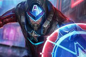 Cyber Captain America Marvel Future Fight