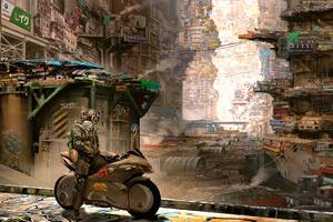 Cyber City Cyberpunk Science Fiction 4k