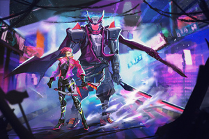 Cyber Fighters 5k Wallpaper