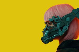Cyber Girl 5k Wallpaper