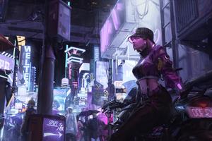 Cyber Girl In Cyber City 4k