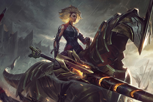 Cyber Horse War Girl 4k