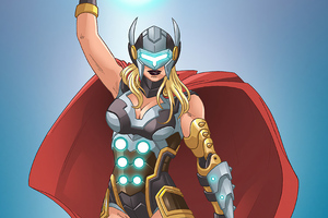 Cyber Lady Thor Wallpaper