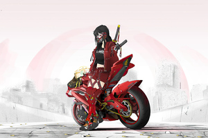 Cyber Punk Asian Girl 4k