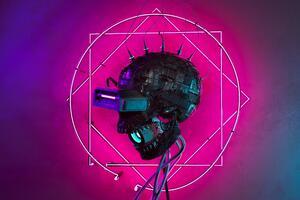 Cyber Skull 4k Wallpaper