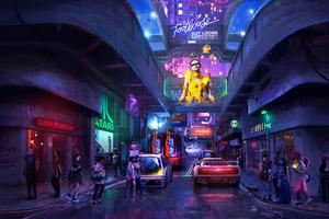 Cyber Street 4k
