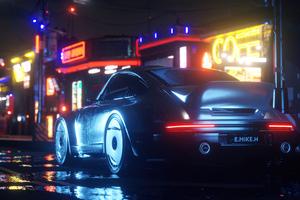 Cyber Streets Ride Wallpaper