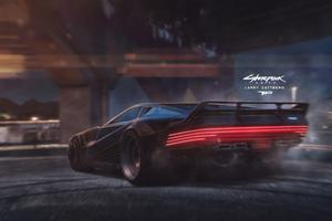 Cyberpunk 2077 Car 4k