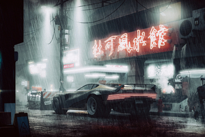 Cyberpunk 2077 Car 4k Art