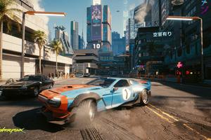 Cyberpunk 2077 Cars Drifting