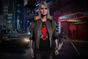 Cyberpunk 2077 Ciri Fan Art 4k