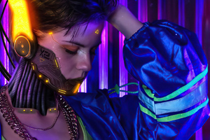 Cyberpunk 2077 Cosplay Girl 4k