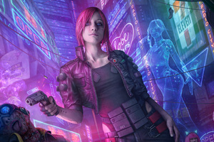 Cyberpunk 2077 Fanart 5k Wallpaper