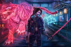 Cyberpunk 2077 Girl 2020 4k