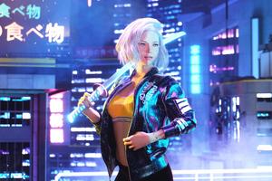 Cyberpunk 2077 Girl 4k 2020 Wallpaper