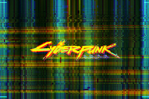 Cyberpunk 2077 Glitch Logo 4k Wallpaper
