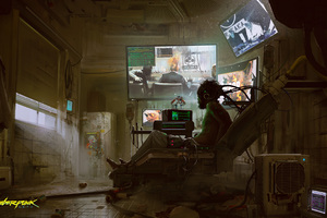 Cyberpunk 2077 Jacked In Concept Art