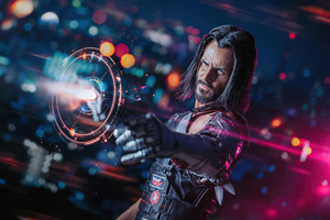 Cyberpunk 2077 Johnny Silverhand Cosplay Wallpaper