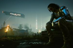 Cyberpunk 2077 Johnny Silverhand GamNight City Wire Wallpaper