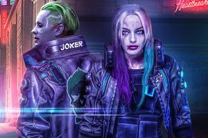 Cyberpunk 2077 Joker X Harley Quinn 5k Wallpaper
