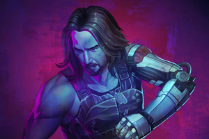 Cyberpunk 2077 Keanu Reeves Artwork Wallpaper