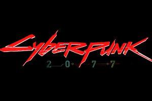 Cyberpunk 2077 Logo 4k