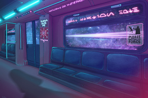 Cyberpunk 2077 Metro Train 4k Wallpaper