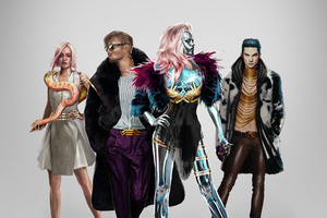 Cyberpunk 2077 Neokitsch Characters Wallpaper