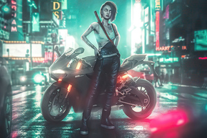 Cyberpunk 2077 Night City Girl 5k