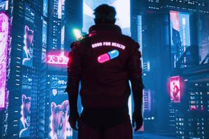 Cyberpunk 2077 One Pill Wallpaper