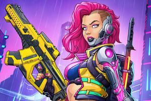 Cyberpunk 2077 Pinup Girl 5k Wallpaper