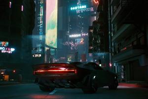 Cyberpunk 2077 Quadra Turbo R 740 Car Wallpaper