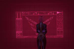 Cyberpunk 2077 Red Screen 4k Wallpaper