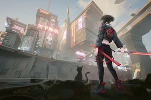 Cyberpunk 2077 Samurai Girl 5k