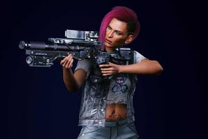 Cyberpunk 2077 V Female Nomad Action