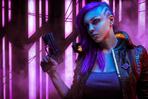 Cyberpunk 2077 With Gun