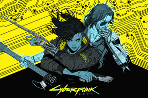 Cyberpunk 2077 Yellow Art 4k