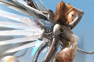 Cyberpunk Angel Goddess 4k