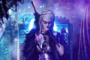 Cyberpunk Assassin Girl 4k