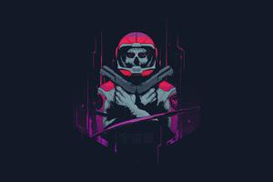 Cyberpunk Astronaut Minimal 4k Wallpaper
