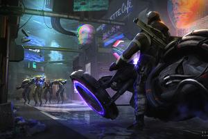 Cyberpunk Bike 4k